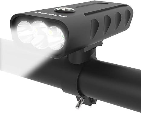 BCXYMQ - Luz Frontal para Bicicleta Recargable por USB, 3 LED ...