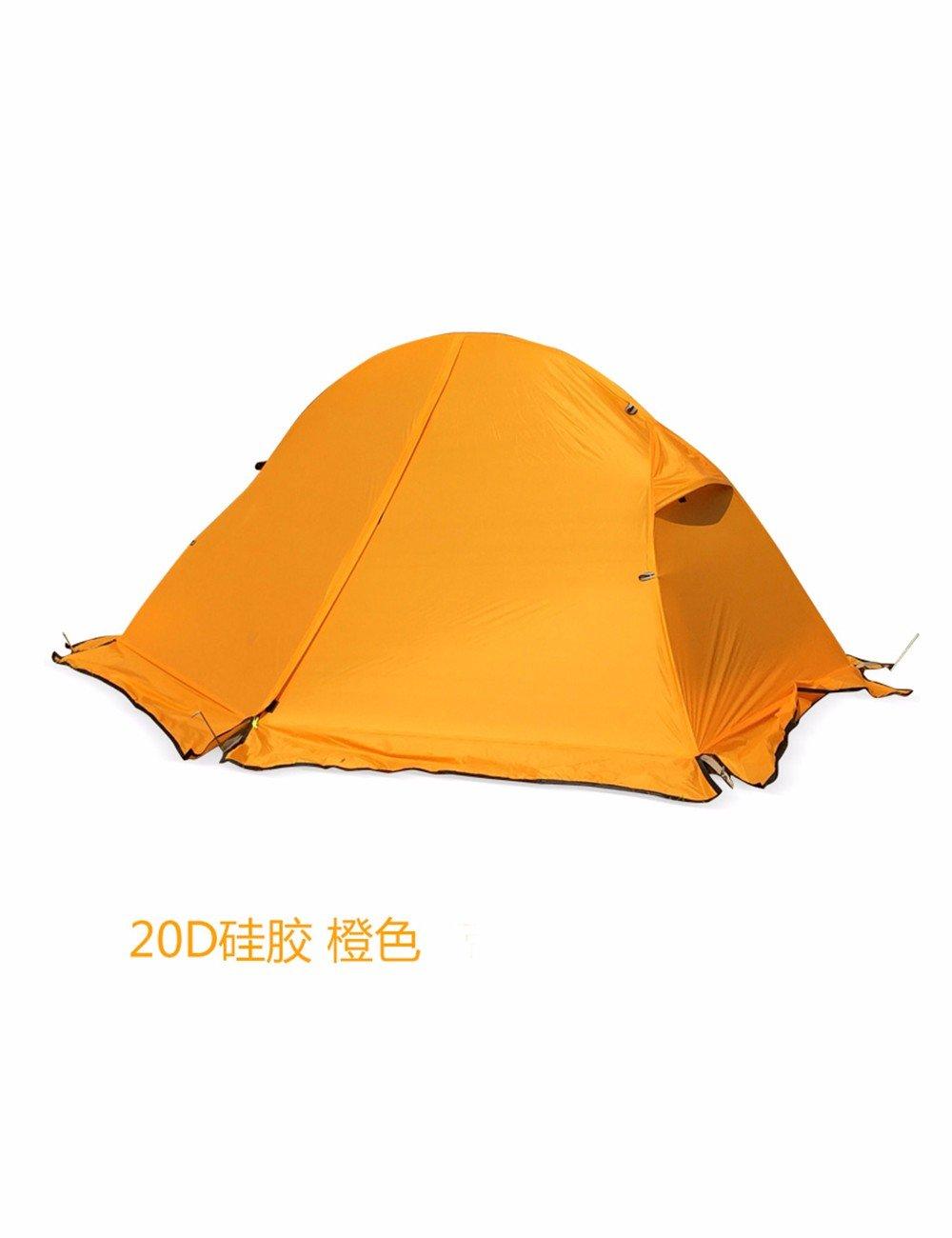 SJQKA-Die einzelne Person Zelt, Ultra-Light 20 Die Silica Gel Anti-Riot Zelt, Regen Doppel Camping Zelt Outdoor