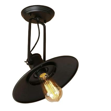 ZYY Luz de techo industrial retro, ángulo ajustable, lámpara ...