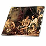 3dRose 3D Rose ct_127418_4 Algerian Women in Their Apartment by Eugene Delacroix-Ceramic Tile inch (4), 12''