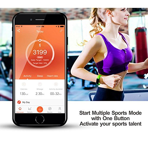 Sleep Device Monitoring,Supplylink Waterproof Fitness Tracker and Activity Watch Multi Health Bluetooth 4.0 GPS for Android/iOS,14 Kinds of Sports Mode by Supplylink (Image #1)