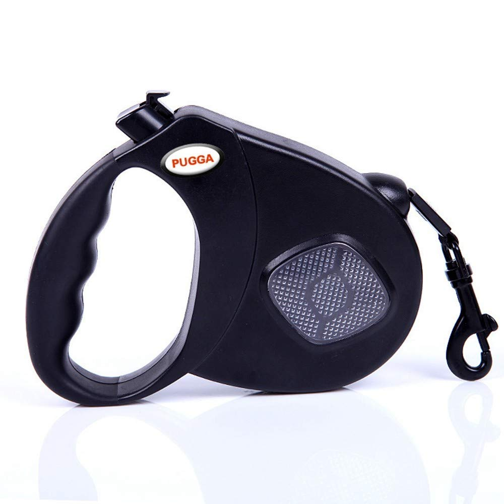 Black M-5m-round rope Black M-5m-round rope IANXI Home Retractable Dog Leash Dog Leash Reflective Dog Leash Safety Flexi Traction Puppy,Black,L-5M-Flat Belt (color   Black, Size   M-5m-round Rope)