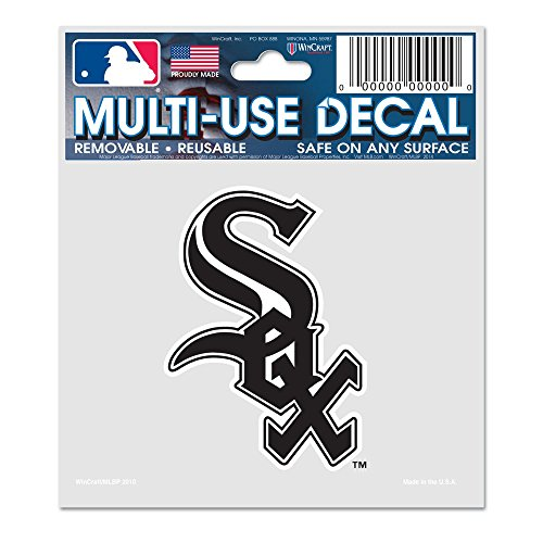 WinCraft MLB Chicago White Sox 84404010 Multi-Use Decal, 3