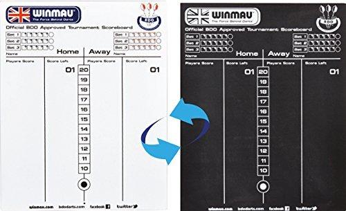 Winmau Trocken Wischbar Darts Whiteboard & Turnier Scoreboard Markerboard Only Sportsgear