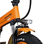 HUAKAI-R6-Bici-Elettrica-Pieghevole-da-20-Pollici-350W500W-48V-10ah128ah-Batteria-Li-Ion-LG-5-Livelli