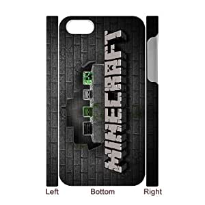 Classic Case MINECRAFT pattern design For Apple iPhone 4,4S(3D) Phone Case