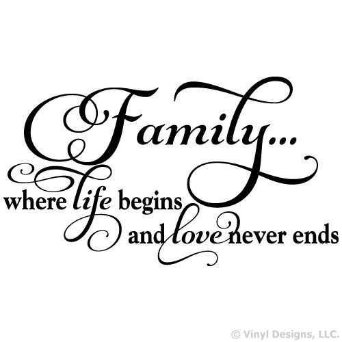 Family Where Begins Vinyl Sticker product image
