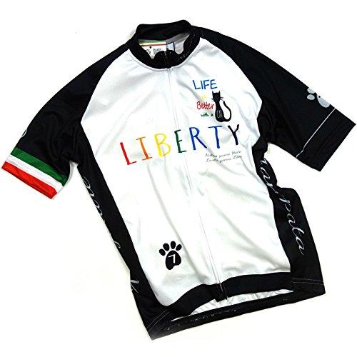 セブンイタリア Liberty Cat Jersey ホワイト/ブラック S(78S-LCT-JY-WB-S)   B07BGS22P5