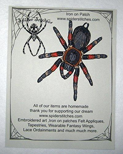 Mexican Red Knee Tarantula Brachypelma Smithii Spider Iron on Patch Applique