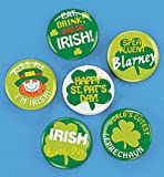 St Patrick Day Decorations 4 Dozen Mini Shamrock Buttons