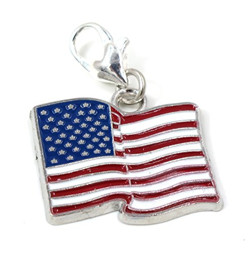 Flag Charm Pendant (Best Wing Jewelry Clip-on