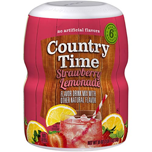 Country Time Strawberry Lemonade Drink Mix, 16 Ounce, Pack of 6