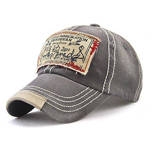 Gorra ajustable Mujeres Vintage Snapback Hombres Hat bordado Gris Sx7qaRwC