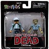Walking Dead Minimates Exclusive Mini Figure 2-Pack Glenn & Nerd Zombie