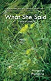 What She Said, Margaret Wesseling, 1467890456
