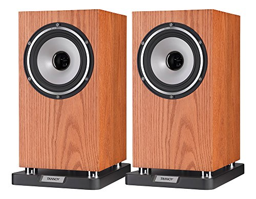 TANNOY Revolution XT 6 Bookshelf Speaker (Medium Oak, Pair) -