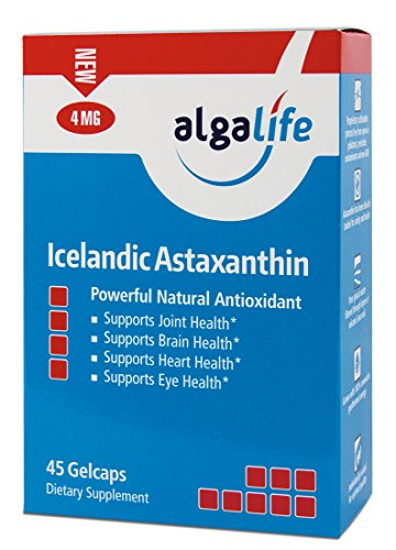 Icelandic Astaxanthin 4mg with Hi-Oleic Sunflower Oil - 45 GelCaps - 4 mg of Pure Natural Astaxanthin