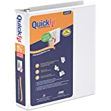 QuickFit 1.5-Inch Deluxe Junior View Binder, 8.5 x 5.5 Inches, Round Ring, White (85120)