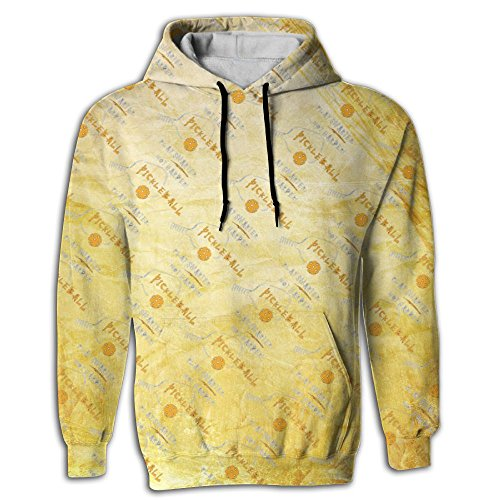 Sagittarius Pickleball Sport Men's Novelty Graphic Long Sleeve Hoodie Lightweight For Juniors ()
