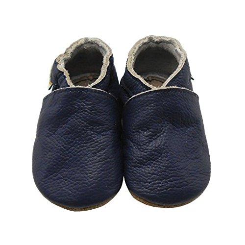 Sayoyo Suaves Zapatos De Cuero Del Bebé Zapatillas Azul Marino