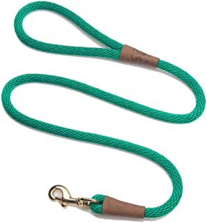 product image for Mendota Pet Snap Leash - British-Style Braided Dog Lead, Made in The USA - Kelly Green, 1/2 in x 6 ft - for Large Breeds