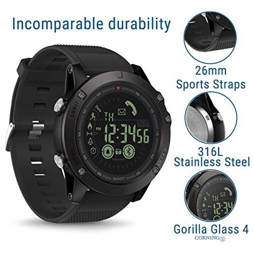 Smart Sports Watch, Zeblaze VIBE3 Outdoor Sports Smartwatch Waterproof IP67 Pedometer Calorie Counter for Android and IOS Smartphone for Men Boys