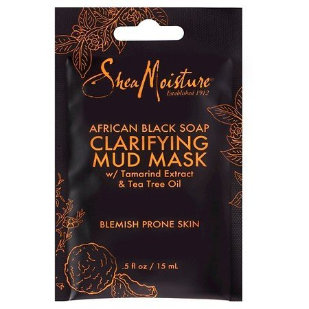 SheaMoisture African Black Soap Clarifying Mud Mask with Tamarind Extract & Tea Tree Oil 0.5 oz
