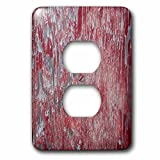 3dRose lsp_271125_6 Image of Distressed Reddish Wood Plug Outlet Cover, Mixed