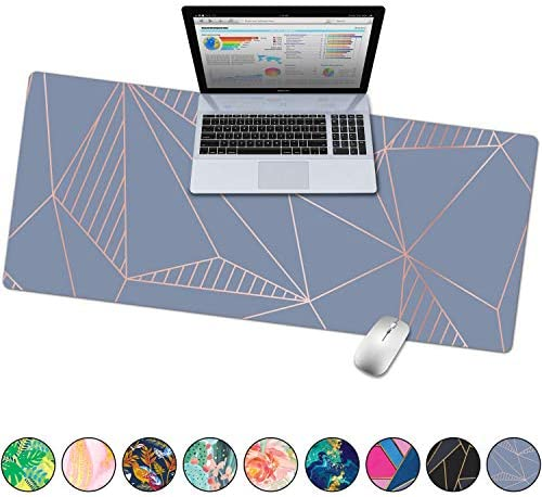 Thick Leather Desk pad with Edge Protection,Durable,Waterproof Multifunctional Deskpad for Writing//Working,Non-Slip Writing Mat Mouse Pad