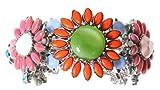 Otazu Summer 3-Flower Cuff In Bright Swarovski Crystals