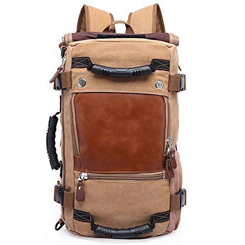 JINDEN Backpack 40L Travel Backpack Vintage Canvas Rucksack Travel Outdoor Sports Multi-Function Hiking Bag