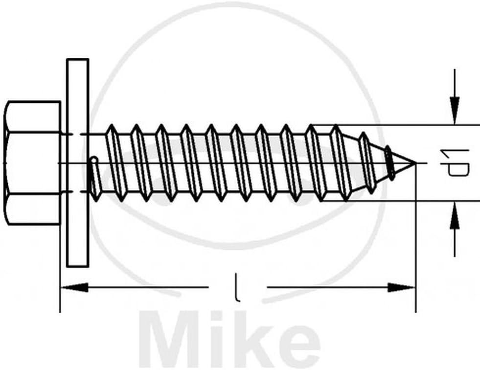 galv Form B 6903 Dresselhaus 0//6036//001//6,5//16,0// //51 Kombi-Blechschrauben-Z2-C 6,5 x 16 mit Sechskant n 7976 100 St/ück DIN 6901 verzinkt mit unverlierbaren Scheiben