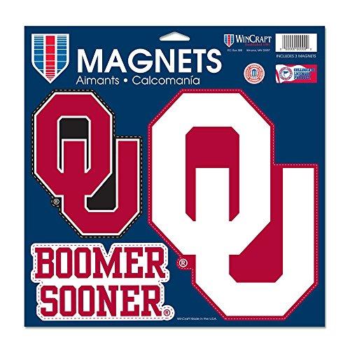 - Wincraft NCAA University of Oklahoma Vinyl Magnet, 11 x 11