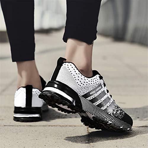 KUBUA Womens Running Shoes Trail Fashion Sneakers Tennis Sports Casual Walking Athletic Fitness Indoor and Outdoor Shoes for Women F Black Women 5 M US/Men 4 M US by KUBUA (Image #8)