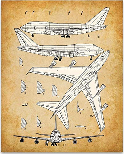 Boeing 747 Airplane - 11x14 Unframed Patent Print - Great Gift Under $15 for Aviation Geeks