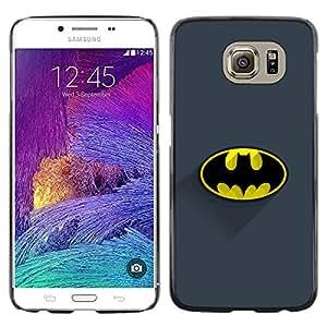 Samsung Galaxy S6 / SM-G920 , Radio-Star - Cáscara Funda Case Caso De Plástico (Classic Bat Logo)