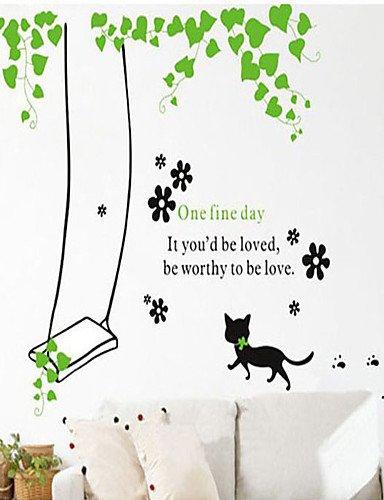 Calcomanías pared adhesivas de pared, diseño de i wall stickers gatos con tapa de plástico: Amazon.es: Hogar
