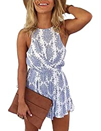NANYUAYA Women Sexy Strap Backless Summer Beach Party Romper Jumpsuit