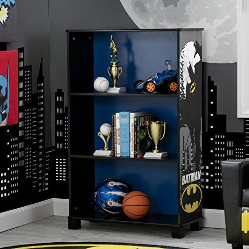 Delta Children Deluxe 3 Shelf Book Case, DC Comics Batman at Gotham City Store