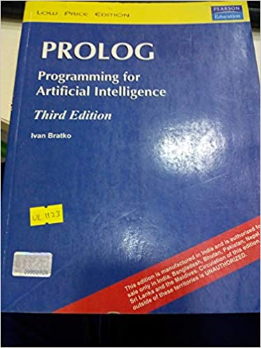 Prolog: Programming For Artificial Intelligence, 3Rd Edition