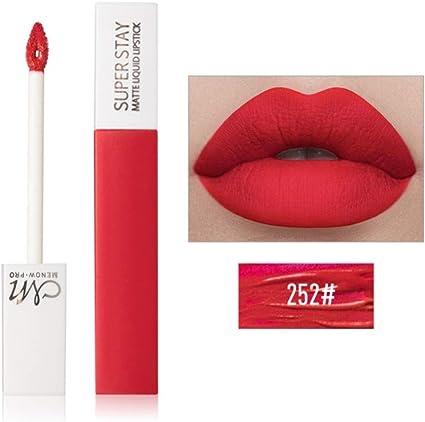Allbesta - Pintalabios mate líquido, 12 colores, brillo de labios, color rojo nude, tinte de labios, resistente al agua, de larga duración