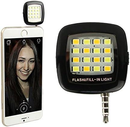 Xixou Portable Mini Round Mobile Phone Tablet Self-Timer Fill Light Clip On-Camera Video Lights