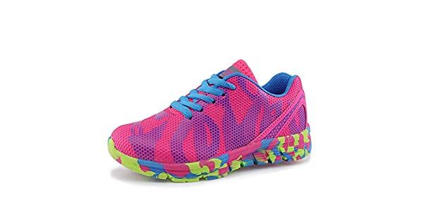 Toddler//Little Kid//Big Kid Hawkwell Unisex Waterproof Hiking Athletic Sneakers Running Shoes ,Fuchsia Mesh,13 M