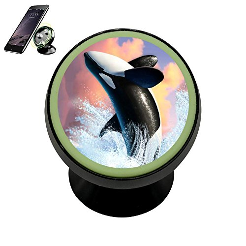 Universal Magnetic Phone Car Mount Holder Metal Luminous 360 Degree Rotation Car Dashboard, Car Phone Mount Luminous Magnetic Car Phone Holder Print A Leaping Whale