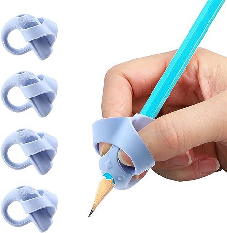 Hongyans 8 Pi/èces Grips pour Crayon Ergonomique Aide /écriture pour Enfants Adultes Besoins Sp/éciaux Droitiers et Gauchers Guide Doigt Enfant