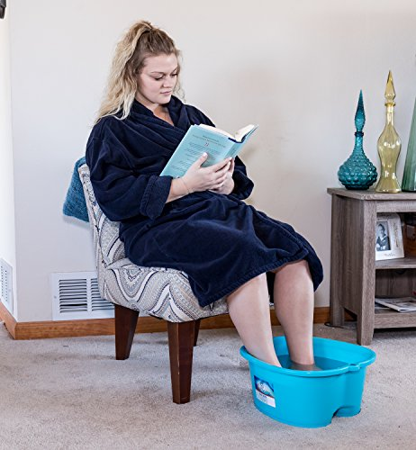 DRESHah Large Aqua Foot Bath Tub - Thick Sturdy Plastic Pedicure Spa and Massage for Soaking Feet, Toenails, and Ankles with Epsom Salts or Essential Oils. Helps with Callus, Fungus and Dead Skin