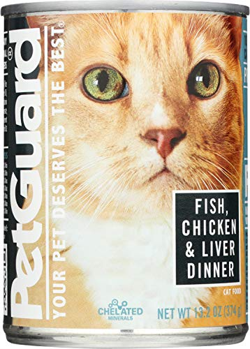 Pet Guard Fish, Chicken & Liver Cat Food, 13.2-Ounce Cans (Pack of 12)