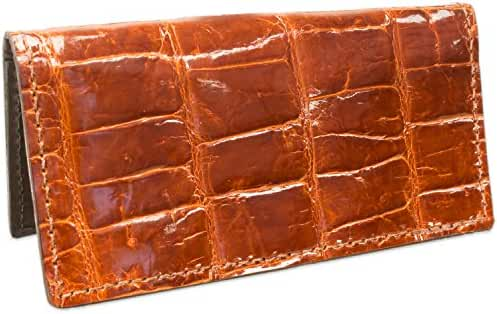 Genuine American Alligator Leather Checkbook Cover Handmade