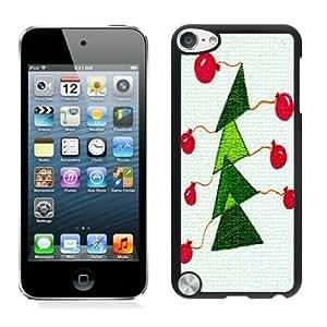 Customized Portfolio Christmas tree Black iPod Touch 5 Case 11