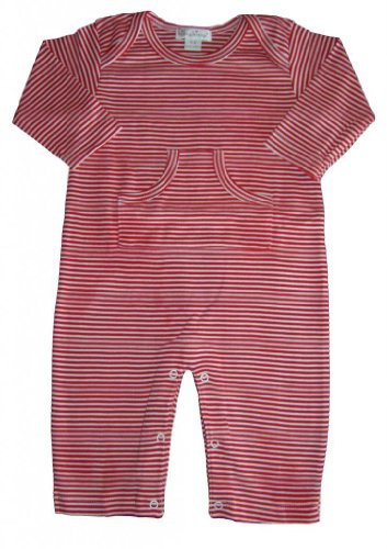 Kissy Kissy Baby Boys Essentials Striped Playsuit-Red-3-6 Months